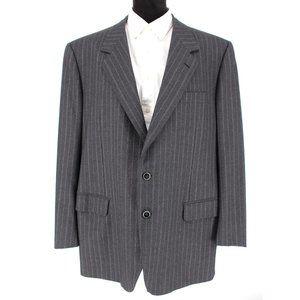 BRIONI Woo Striped Grey Sport Coat Jacket size 60